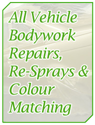 All Vehicle Bosywork, Repairs, Re-Sprays and Colour Matching